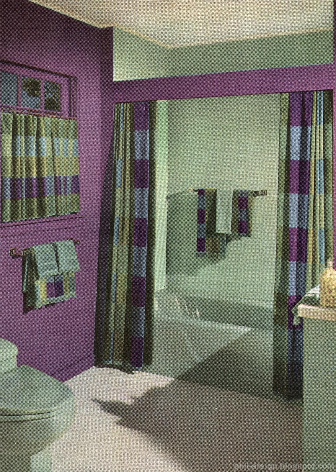 Green And Purple Bathroom   Home Design