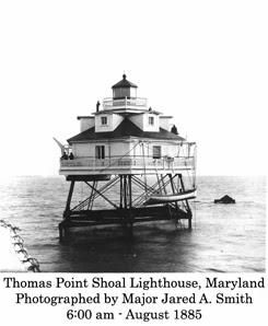 Sandy Point Lighthouse Maryland Historic Photo Print 1885