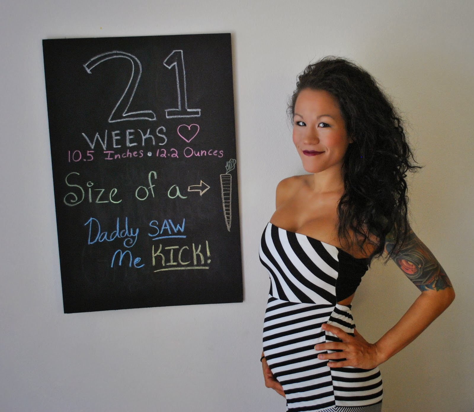 Diary of a Fit Mommy: 21 Weeks Pregnancy Chalkboard Update