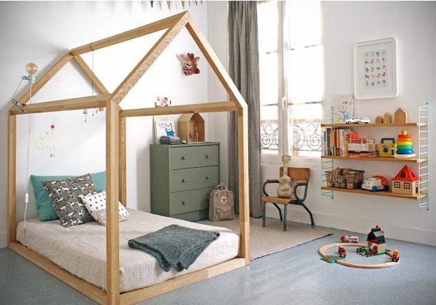 girlystan un lit maison pour la chambre de votre enfant. Black Bedroom Furniture Sets. Home Design Ideas