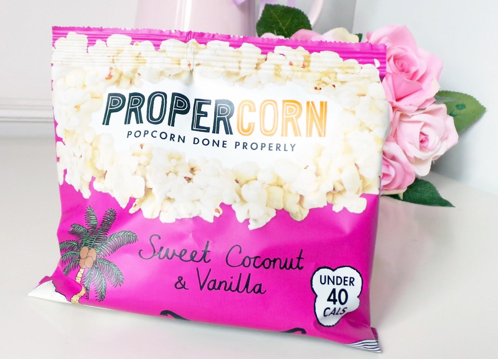 birchbox  Propercorn Sweet Coconut & Vanilla Popcorn review