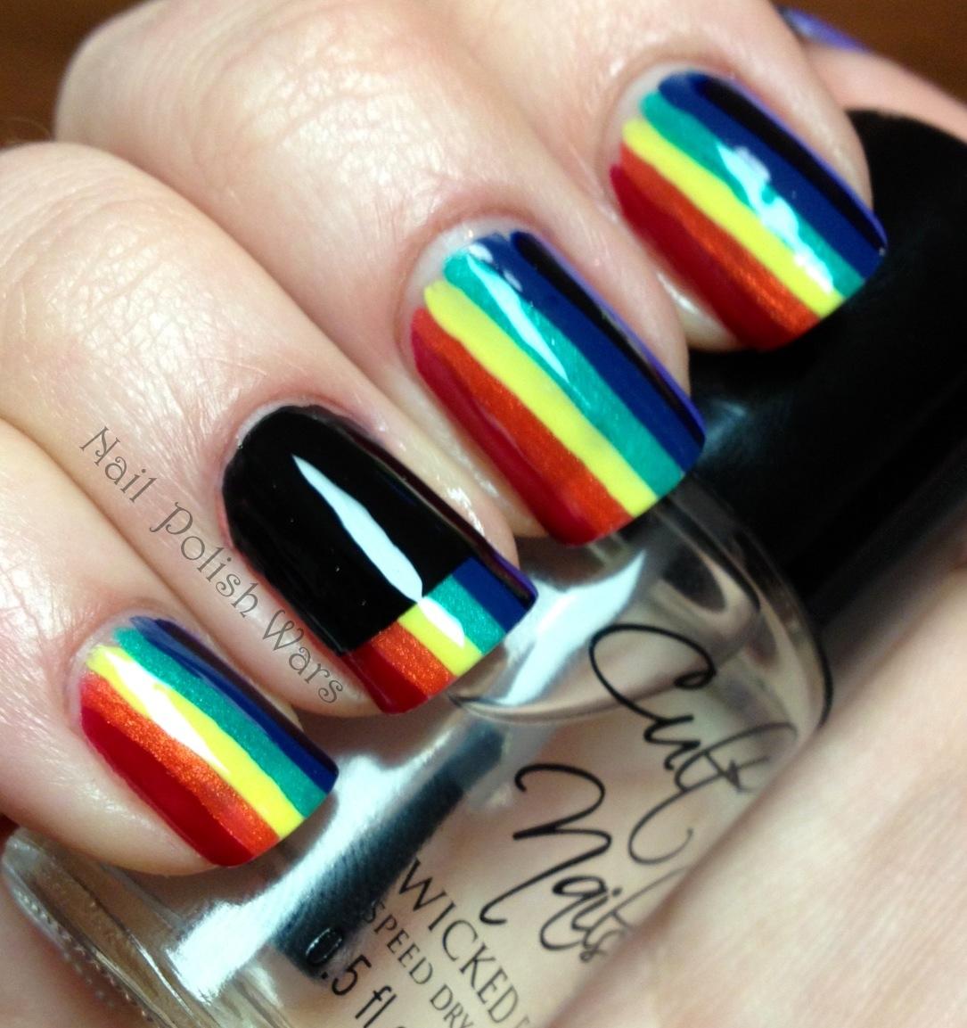 Nail Polish Wars: Rainbow Rows