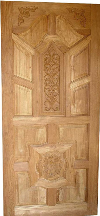 Latest kerala model wood single doors designs gallery i for Wood door design latest