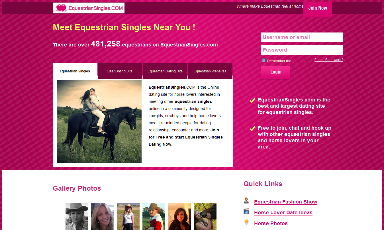 Dating sites for horse lovers