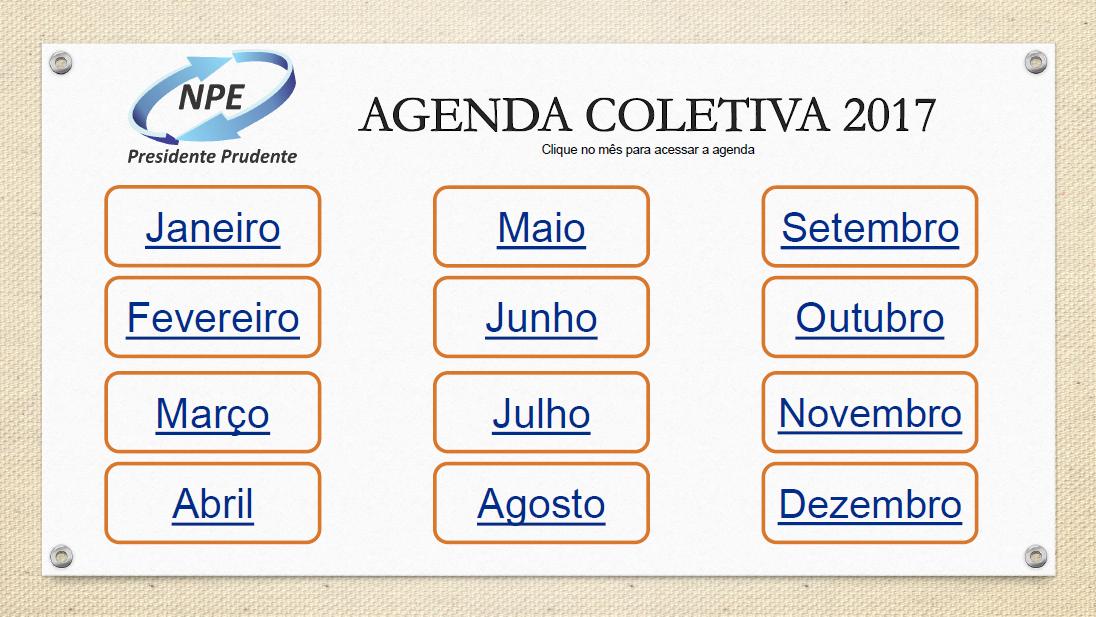 Agenda 2017 - Núcleo Pedagógico