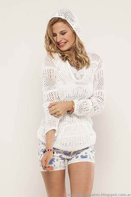 Sweaters tejids de hilo moda verano 2015. Doll Fins look de moda 2015.