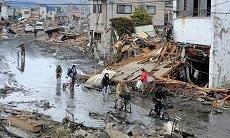 ciężka sytuacja Ishinokali-miasto w Japonii po tsunami