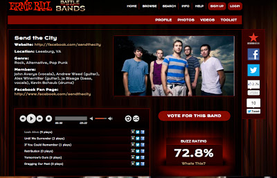 #sendthecity, #Band, #WarpedTour, #Vote