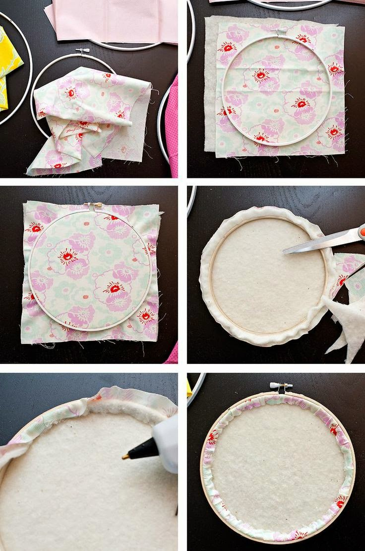 http://maggieholmes.typepad.com/my_weblog/2010/08/home-decor-project-making-memories-slice-fabric-and-embroidery-hoops.html