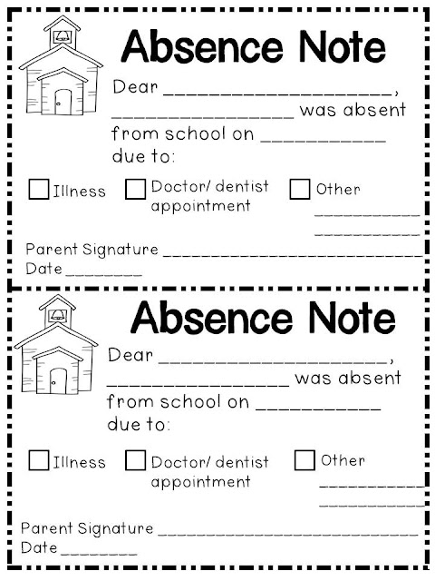 Absence Note Sample Blank Doctors Note For Missing Work Excuse