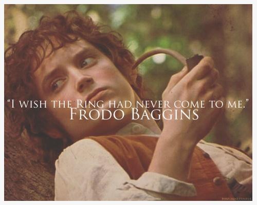 Frodo The Ring Is My Burden