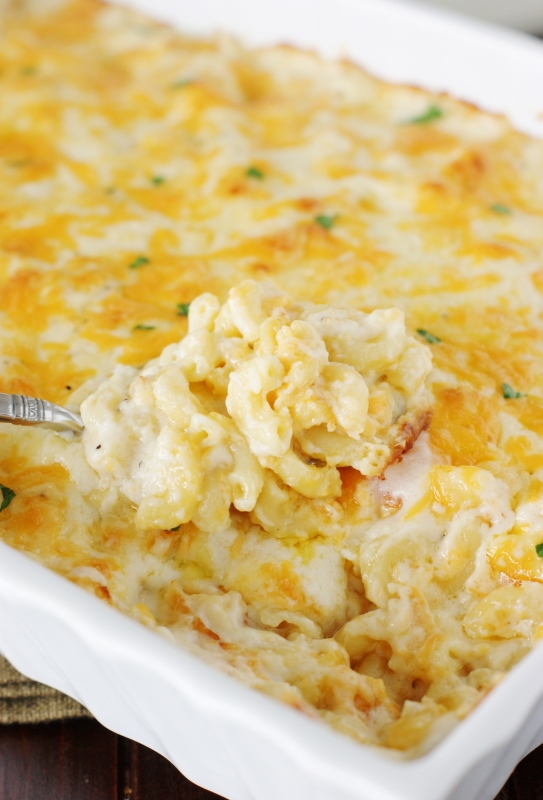 Cheese Baked Macaroni and Cheese ~ This classic side dish is made ...