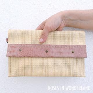 Cartera de mano hecha a mano en cuero