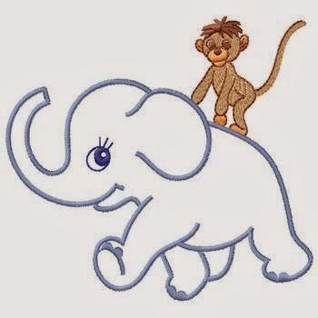 Baby Elephant & Baby Monkey