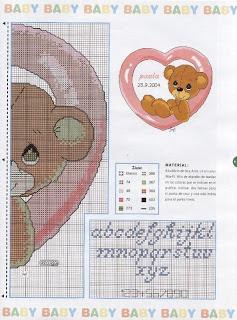 Ponto cruz - O urso