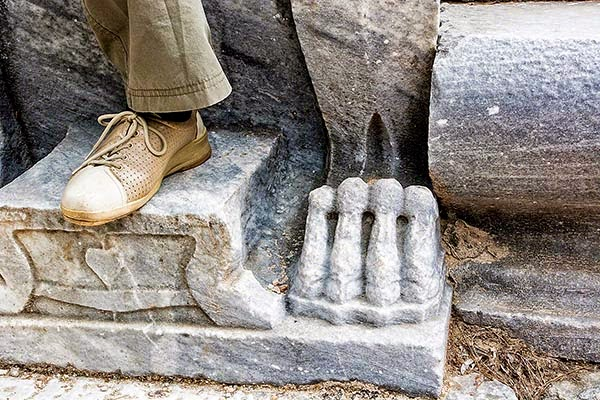 Theatre of Priene: Lions Feet