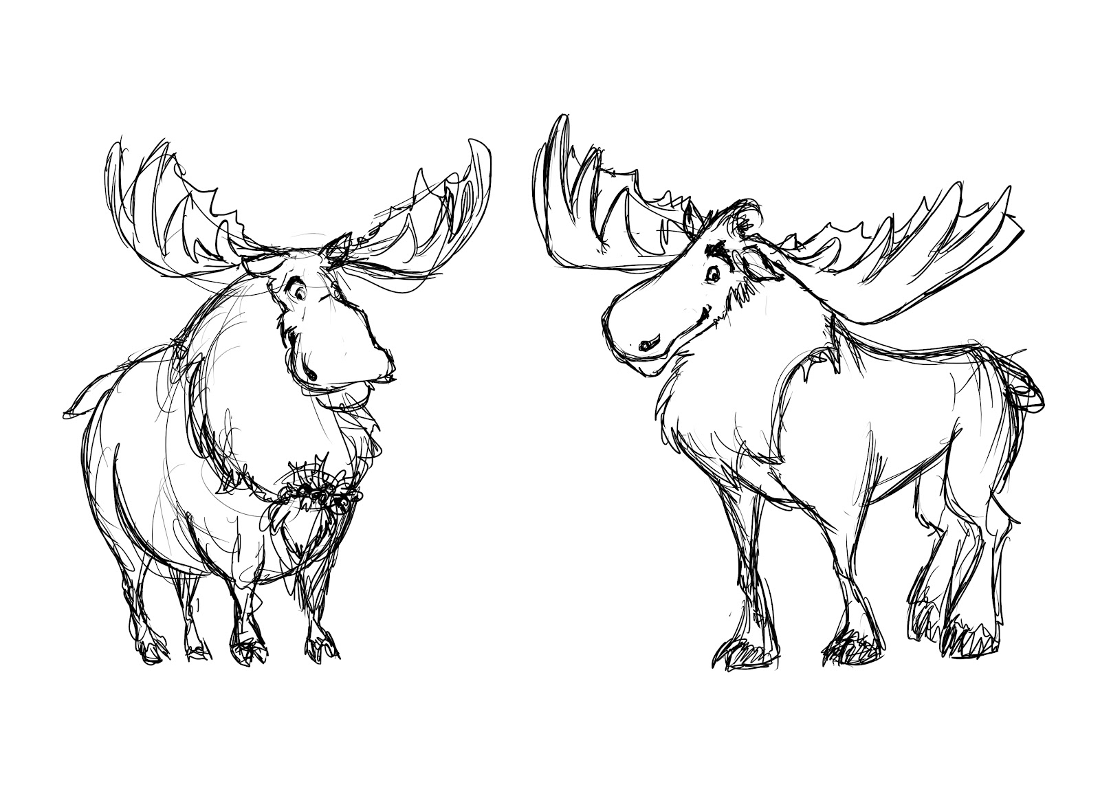 Elora 39 s sketchcan meese moose moxen for How to draw a moos