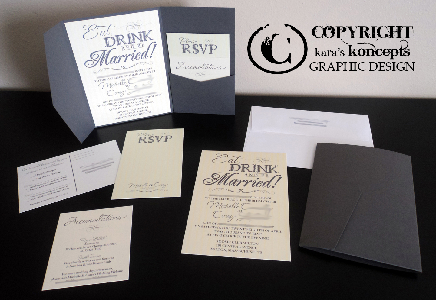 I LOVE This Invitation. The Colors U0026 The Theme Were Very Fun To Work With!!  Eat, Drink U0026 Be Married!