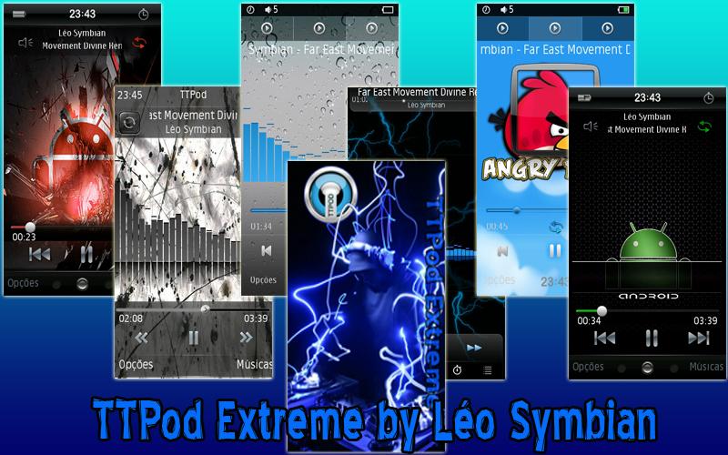 TTPod Extreme 2011 v4.31 S60v5 S^3 EN PT by Léo Symbian 29MB (80 Skins)