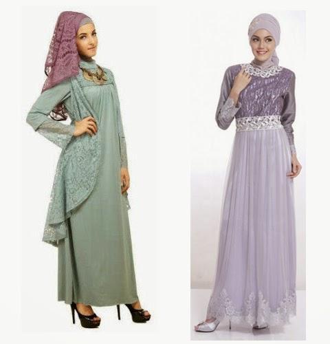 Gambar model baju gamis terbaru tanah abang 2015 Gambar baju gamis pesta 2014