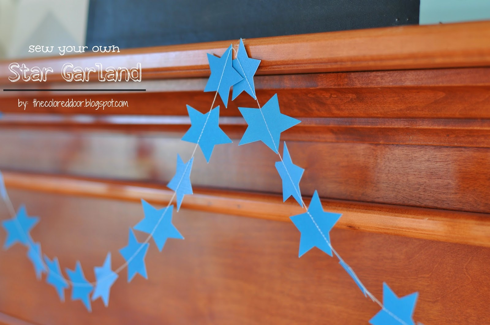 Sew your own star garland, prefect for the summer holidays - the colored door