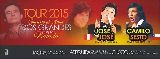 José José y Camilo Sesto en Arequipa - 06 de febrero