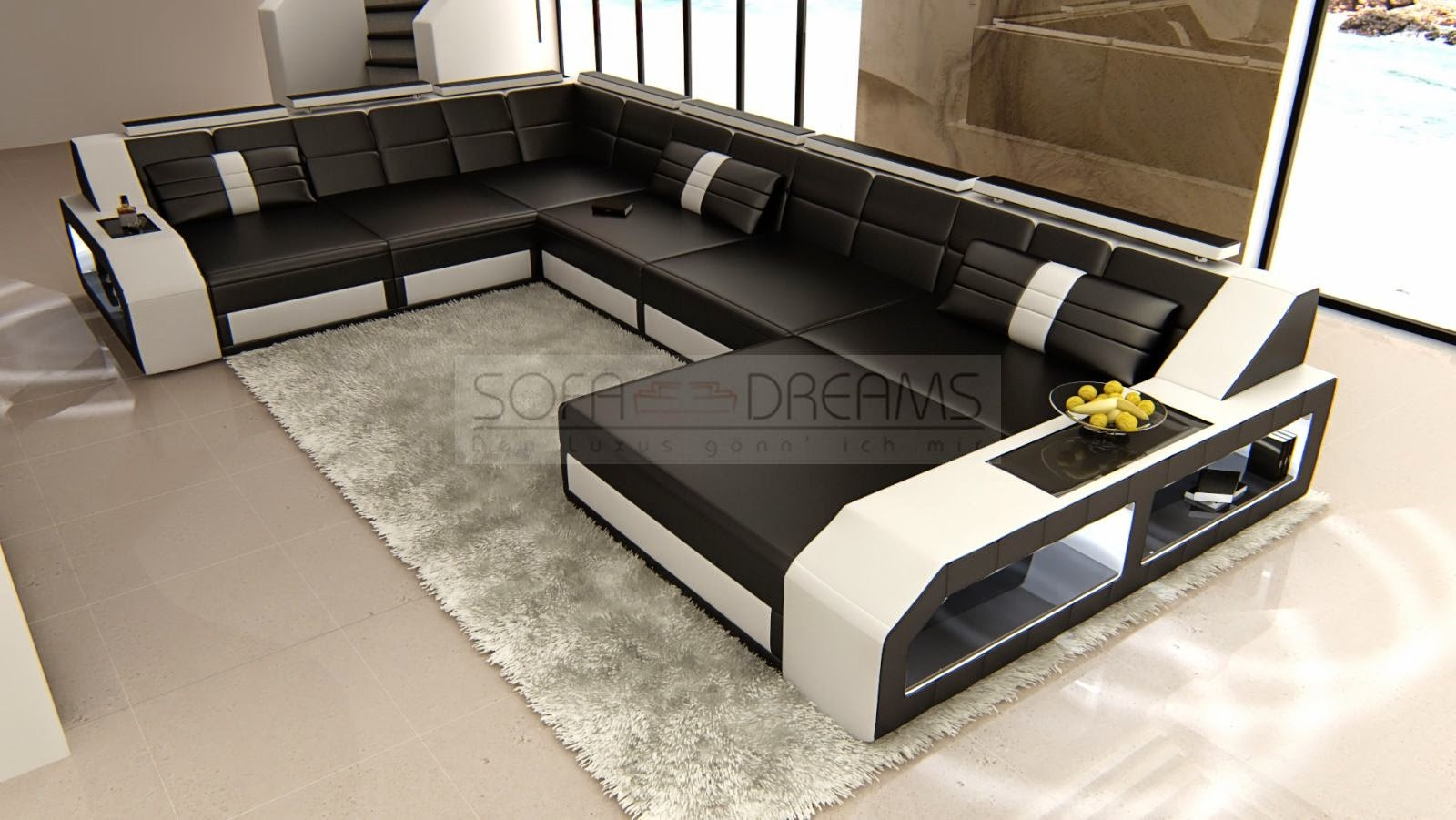 ledersofas sofas vom designer ledersofa matera das designer sofa als wohnlandschaft. Black Bedroom Furniture Sets. Home Design Ideas