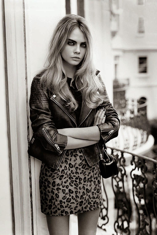 cara delevigne leopard skirt