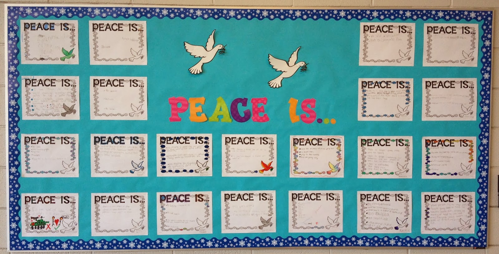Mrs. O Knows: What Peace Means to Me - My January Bulletin Board