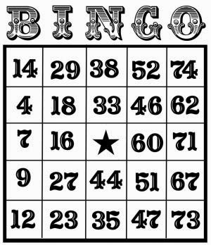 picture about Printable Number Bingo Cards 1 75 identify Printable Birthday Playing cards: Printable Bingo Playing cards SEPTEMBER 2017