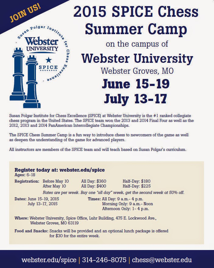 SPICE Chess Summer Camp at Webster University