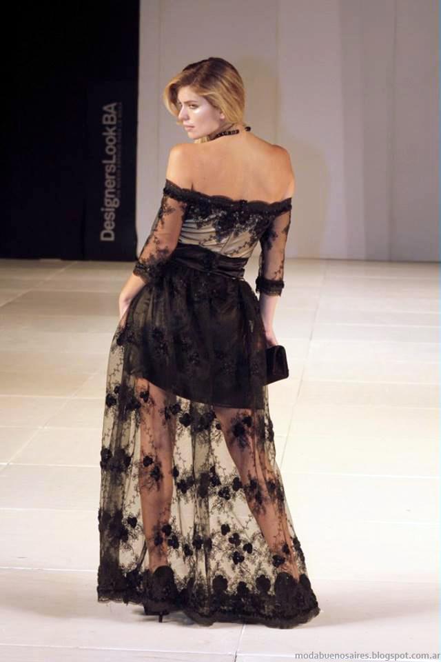 Almendra Peralta Ramos invierno 2014 moda vestidos de fiesta.