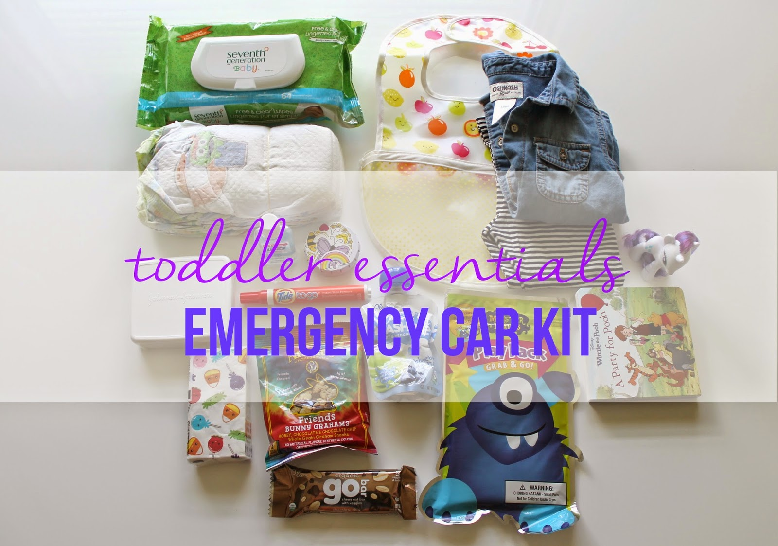 Toddler Essentials Emergency Car Kit | Bubbles and Gold (www.bubblesandgold.com)