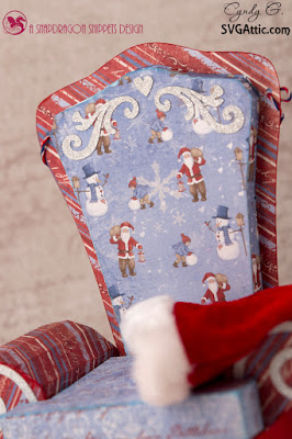 Close up of Santa's Chair