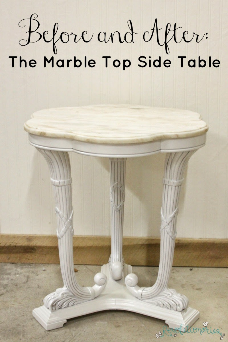 Before and After: The Marble Top Side Table
