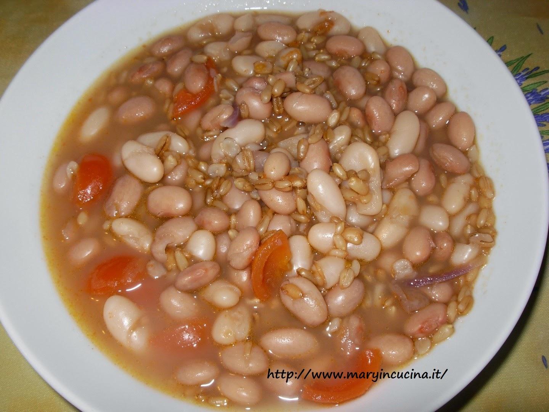 zuppa di avena e fagioli