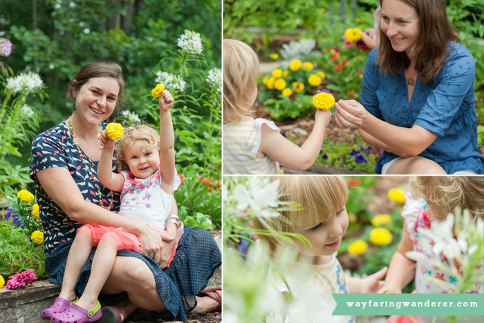 Hersey Family Adventure on Lake James, NC   In the Flower Garden   Boone North Carolina Family Photographer