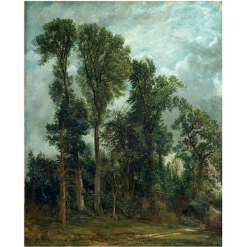 John Constable - Trees at Hampstead : the path to church,1821-1822.