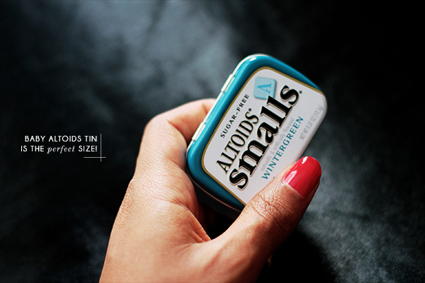 DIY butter balm in altoids can