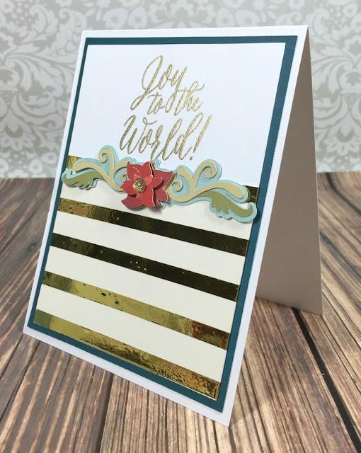 Cricut Joy to the World card