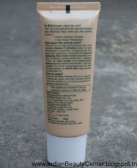 Garnier BB cream Product Information