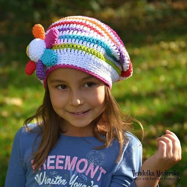 Crochet rainbow slouchy pattern