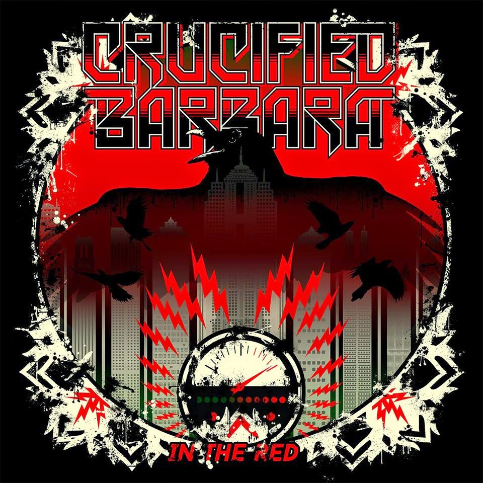 crucified barbara - in the red - album - cover