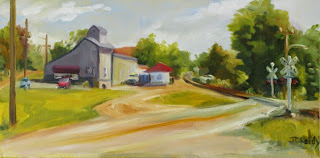 The Farmers Co-op Along the Tracks by Judith Reidy