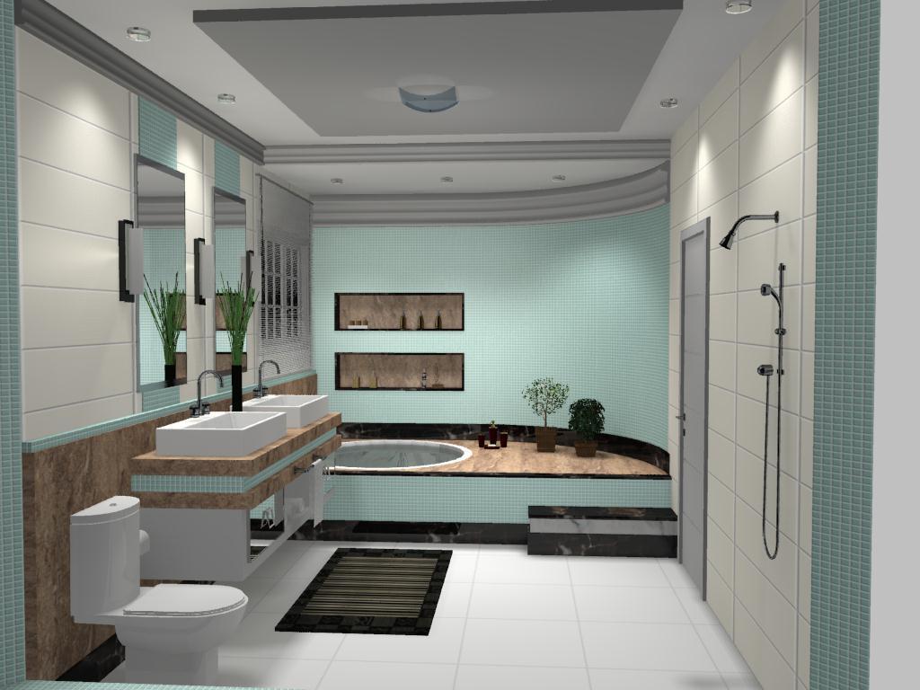 Banheiro Casal #5D4D3F 1024x768 Banheiro Com Banheira Casal