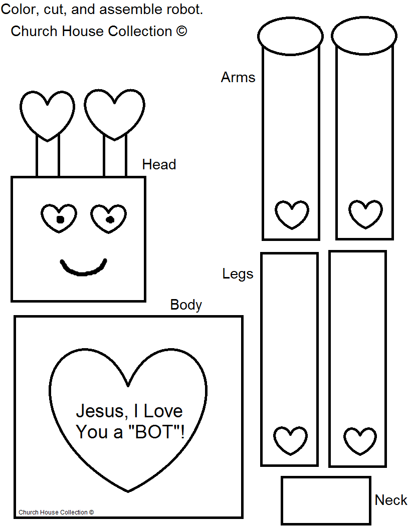 Church House Collection Blog Robot Valentine Craft For