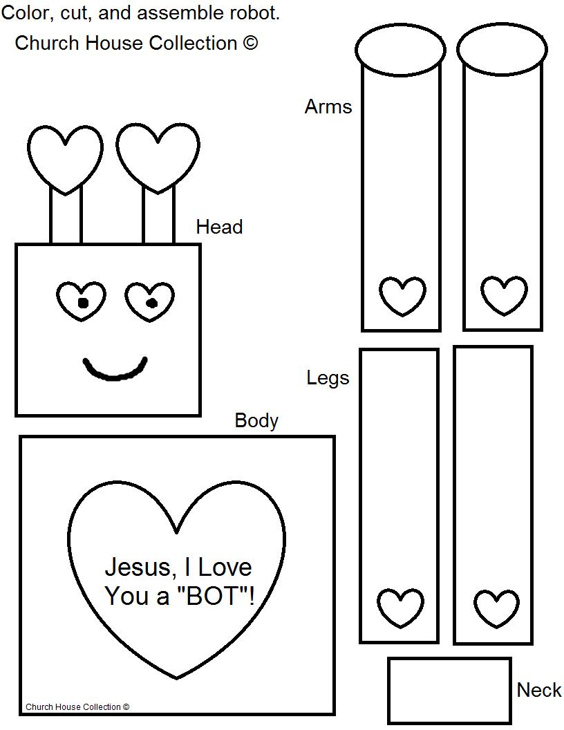 "Jesus, I Love You A ""BOT""! Valentine Robot Craft for Kids"