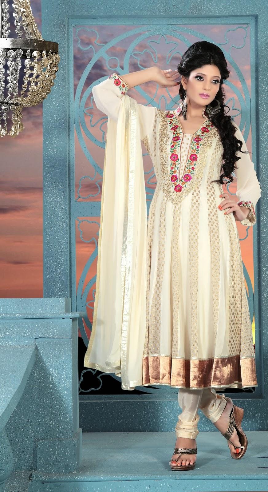 Stylish white dress wedding umbrella frocks churidar designs - For More About Other Anarkali Designed Dress Pleas Visit Buy Printed Anarkali Designer Dress Online Anarkali Designer Dress Order Chikankari Anarkali