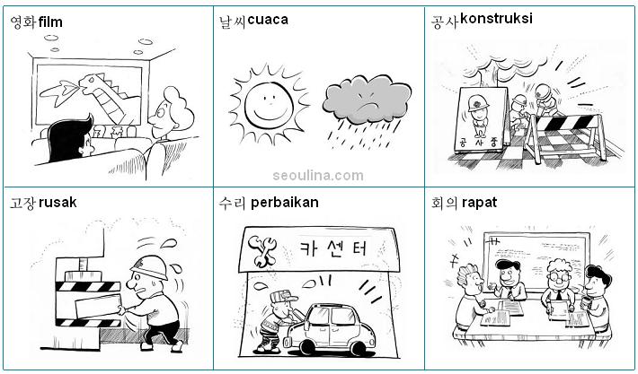 gambar kosa kata bahasa korea