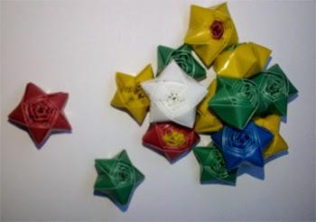 bintang segilima dari sedotan plastik langkah langkah pembuatan ...
